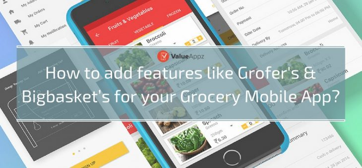 How to Add Features like Grofers' and Bigbasket's for Your Grocery Mobile App?