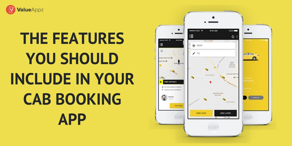 The Features You Should Include In Your Cab Booking App